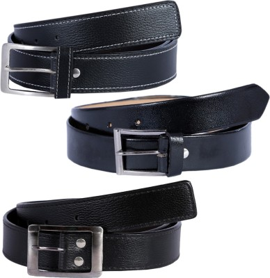 KRITIKAS,WORLD Men Casual Black Artificial Leather Belt