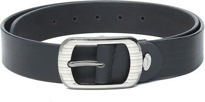 The Deer Club Men Casual Black Genuine Leather Belt