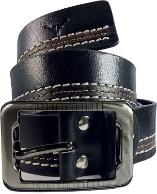 HIDEKRAFT Men Casual Black Genuine Leather Belt