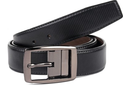 abrazo Men, Boys Brown, Black Artificial Leather Reversible Belt