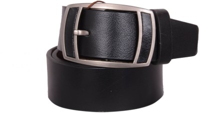 SHOPPY ADDA Men Black Genuine Leather Belt