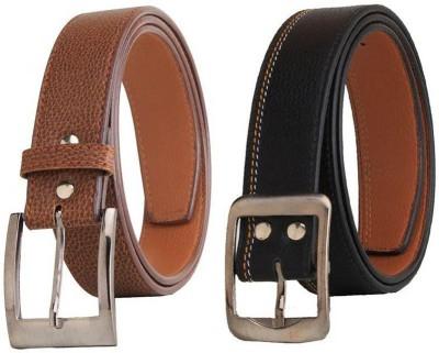 KRG ENTERPRISES Men, Boys Casual, Party, Formal Multicolor Genuine Leather Belt