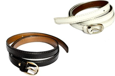 VICTORIA SECRET INDIA Girls, Women Black, White Artificial Leather Belt