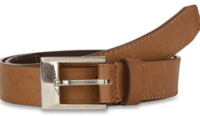 Paradigm Design Lab Men Casual Tan Genuine Leather Belt