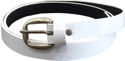 Verceys Girls, Women Casual White Artificial Leather Belt