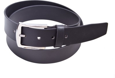 Manshkhino Men Formal Black Genuine Leather Belt