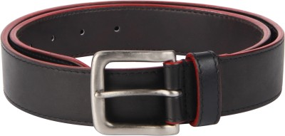 Kaizu Men Casual, Party Black Genuine Leather Belt