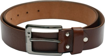 LE DAZZIO Men Brown Genuine Leather Belt