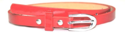 Amafhh Girls Party Red Artificial Leather Belt