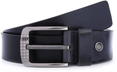 Naysa Men Formal Black Genuine Leather Belt