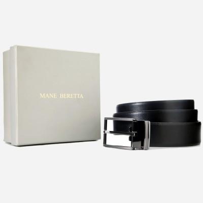 Mane Beretta Men Formal Black Genuine Leather Belt