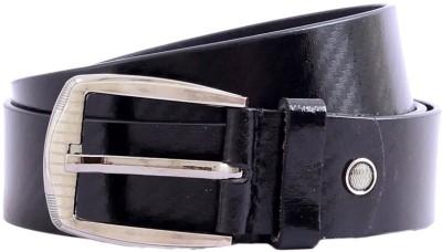 The Label Men Formal Black Genuine Leather Belt