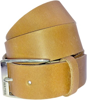 Water Men Casual Tan Genuine Leather Belt