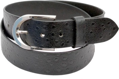 Indo Pelle Men Formal, Casual, Party, Evening Black Genuine Leather Belt