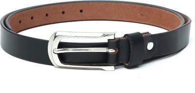 The Deer Club Women Casual Black Genuine Leather Belt