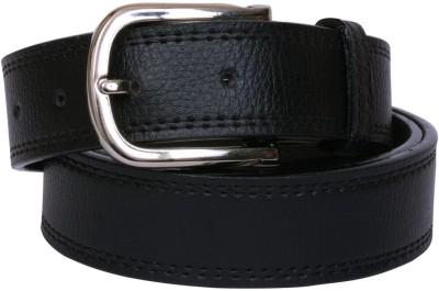 Visach Men Formal Black Artificial Leather Belt