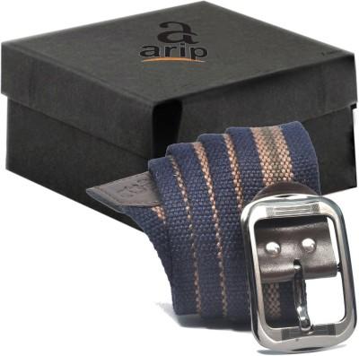 ARIP Boys, Girls, Men, Women Formal Blue Canvas Belt