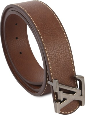 Lotus Designer Men Casual Tan Texas Leatherite Belt