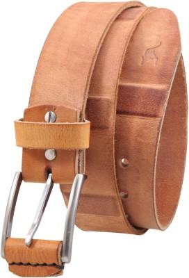 Kangoo Men Casual Tan Genuine Leather Belt