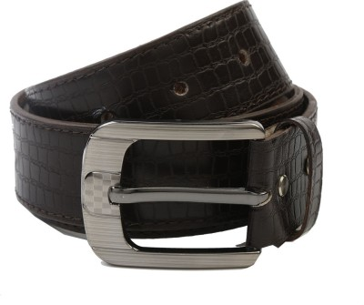 Nypc Men Formal Black Genuine Leather Belt