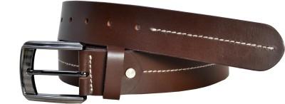 Moochi Men Brown Genuine Leather Belt