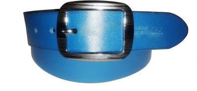Sanshul Men Blue Genuine Leather Belt