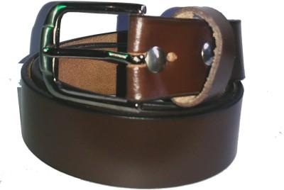 Troyfashion Boys Brown Genuine Leather Belt