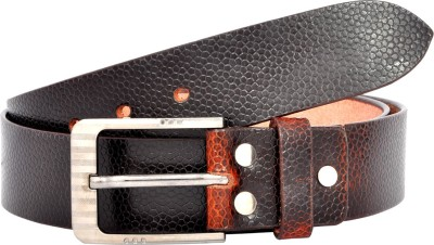 Leo Men Casual Brown Genuine Leather Belt