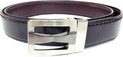 Craftbazaar Men Casual Black Artificial Leather Belt