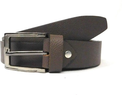 FINCH FEATHER Men, Boys Casual Brown Genuine Leather Belt