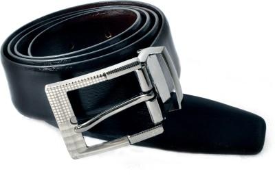 Encanto Men Formal Black Genuine Leather Reversible Belt