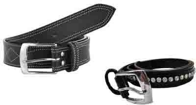 Sterling Germany Men, Women Casual Black Genuine Leather Belt