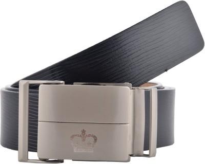 GLB Men, Boys Black Genuine Leather Belt