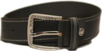 Leefab Men Casual Black Genuine Leather Belt