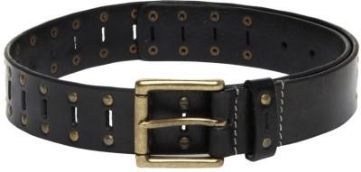 Fume Men Casual Black Genuine Leather Belt