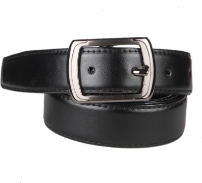 CARLOS Men Casual Black Genuine Leather Belt