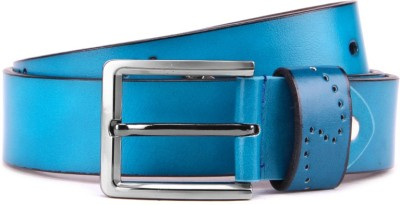 Swiss Design Men Blue Genuine Leather Belt