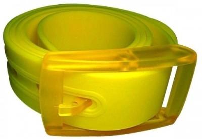 NeedyBee Boys, Girls Casual Yellow Artificial Leather Belt