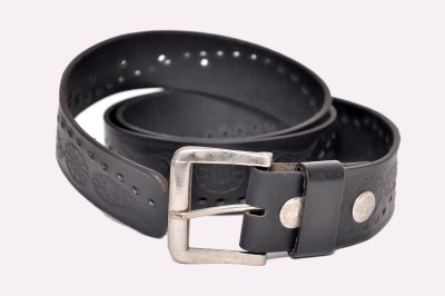 Bullstop Boys, Men Black Genuine Leather Belt
