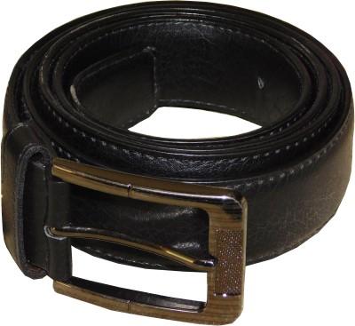JTM Trading Men, Boys Black Genuine Leather Belt