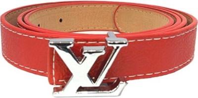 Zaira diamond Men Red Genuine Leather Belt