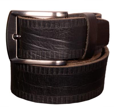 Cops Men Formal, Casual Black Genuine Leather Belt