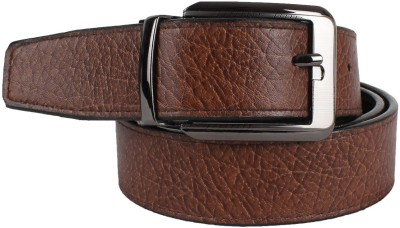 YOURS LUGGAGE Men, Boys Casual, Evening, Formal, Party Black, Brown Artificial Leather, Genuine Leather, Synthetic Reversible Belt