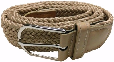 Mount Tradings Girls, Women Casual, Party, Formal, Evening Beige Artificial Leather, Fabric, Canvas Belt