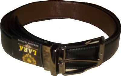Avgi Men Casual Black Genuine Leather Reversible Belt