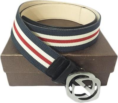 Zaira diamond Men Blue, Red Genuine Leather Belt