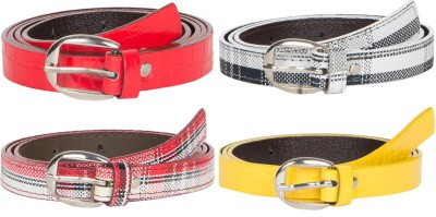 Mdr Collections Girls Formal Black, Red, Yellow, Maroon Artificial Leather Belt