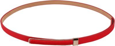 Stylehoops Girls, Women Formal Red Artificial Leather Belt