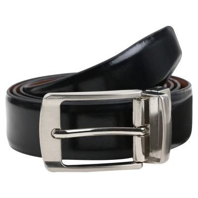 Umda Men Formal, Casual Black Genuine Leather Reversible Belt