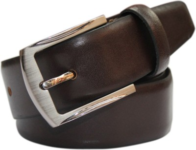 Haywire Men Formal Brown Genuine Leather Belt